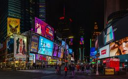Times Square IV. A panorama picture of Times Square stock photos