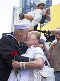 Times Square kus-binnen Royalty-vrije Stock Afbeeldingen