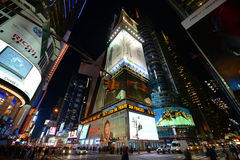 Times Square la nuit, New York City Photos stock