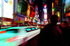 Free Times Square Limo New York Royalty Free Stock Photography - 3882827