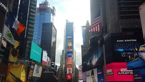Times Square, lugar popular Nueva York almacen de video