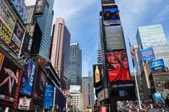 Colorful Times Square in New York stock photography