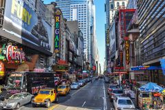 Colorful Times Square in New York royalty free stock photography