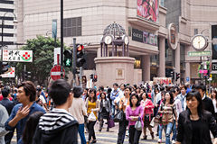 Times Square mall. HONG KONG - MARCH 19: Unidentified people near Times Square mall on March, 19, 2013. Times Square is a very popular shopping place in Hong Stock Photo