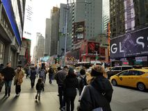 Times Square. In Times Square, Manhattan New York royalty free stock photos