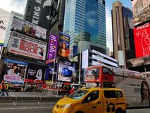 Times Square. In Times Square, Manhattan, New York royalty free stock photography