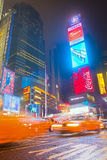 Times square in Manhattan.  New York City Royalty Free Stock Images