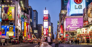 Times Square. Manhattan in New York city, USA showcasing the famous Times Square stock images