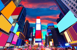 Times Square Manhattan New York deleted ads stock images