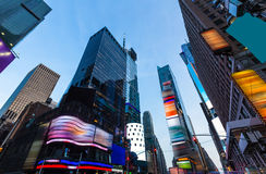 Times Square Manhattan New York deleted ads. Times Square Manhattan New York all the ads deleted US stock photo