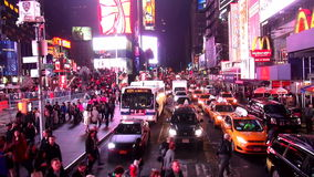Times Square Manhattan New York by night USA cityscapes stock video