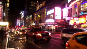 Times Square Manhattan New York by night USA cityscapes stock video footage