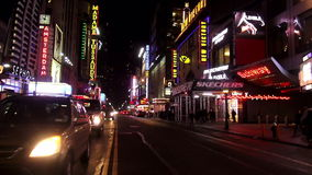 Times Square Manhattan New York by night USA cityscapes stock footage