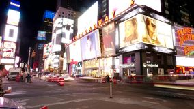 Times Square Manhattan New York - timelapse schoss nachts stock footage