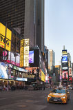 Times Square, Manhattan, November 20, 2015, New York, USA. Times Square, Midtown Manhattan, November 20, 2015: busy tourist attraction in Manhattan, strongly Royalty Free Stock Images