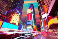 Times Square Manhattan Nowy Jork kasować reklamy Fotografia Royalty Free