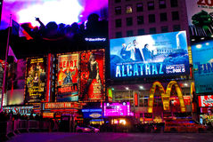 Times Square, Manhattan, NYC. Billboards and Stores located in Times Square, NYC stock image