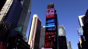 Times Square Manhattan USA cityscapes stock video