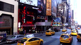 Times Square Manhattan USA cityscapes stock video footage