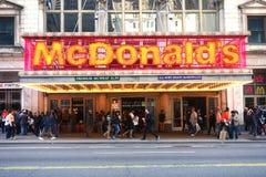 Times Square McDonald's Royaltyfria Foton
