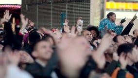 Times Square Miasto Nowy Jork Tłoczy się zbiory wideo