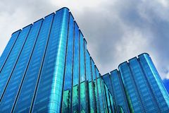 Times Square modern building in Business District Ho Chi Minh. Ho Chi Minh, Vietnam - February 26, 2016: Times Square modern building in Business District in Ho royalty free stock image