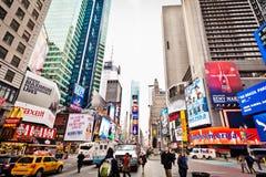 Times Square am Morgen Lizenzfreie Stockfotografie