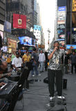 Times Square musicians Royalty Free Stock Photo