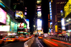 Times Square na noite #3 Imagens de Stock Royalty Free