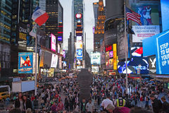 Times Square na noite (New York City, EUA) Imagem de Stock Royalty Free