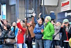 Times Square na véspera de Ano Novo Imagens de Stock