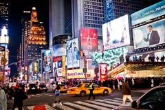 Times Square nachts Stockfotografie