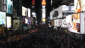 Times Square nachts stock video
