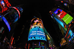 Times square neon signs at night Stock Photography