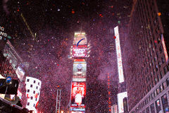 Times Square New Year. Confetti filled the air at midnight during the New Year's Eve 2008-2009 celebration in Times Square, New York City stock images
