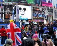 Times Square on New Year's Eve Royalty Free Stock Image