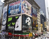 Times Square New York. The huslle and bustle of Times Square in New York, famous for bright and colorful advertising Stock Images