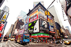 Times Square, New York. Times Square featured with Broadway Theaters and animated LED signs is a symbol of New York City and the United States, July 2, 2011 in royalty free stock photography