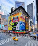 Times Square New York. Times Square Traffic in New York, NY. The site is one of the world's most popular attractions wiith over 39 million annual visitors royalty free stock photos