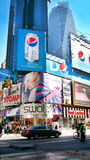 Times Square New York. Advertisement on buildings in Times Square, New York royalty free stock photo