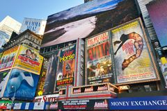 Times Square New York Billboards Stock Photo