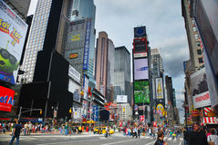 Times Square of New York City. With commercial street view royalty free stock photo