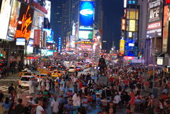 Times square - New York city. The famous Times square in New York City stock photography