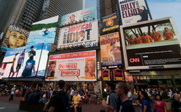 Times Square new york city. A shot of times square in the summer Royalty Free Stock Image