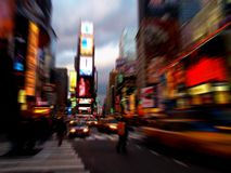 Times Square in New York City. Times square at dark in New York City stock photos