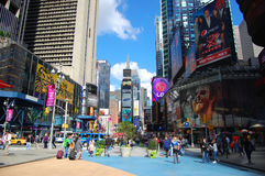 Times Square, New York City. Broadway and Times Square, Manhattan, New York City, USA royalty free stock image