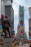 Times Square New York City. George M Cohan statue and the colorful billboards at Times Square, New York City, United States Royalty Free Stock Photos