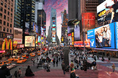 Times Square, New York City. Times Square, NYC. Features Broadway Theaters and animated LED signs, is a symbol of New York City and the United States, March 30 Stock Image