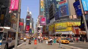Times Square in New York City stock video footage