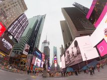 Times Square. In New York City royalty free stock image